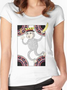 Monkey King Fool for Love Women's Fitted Scoop T-Shirt