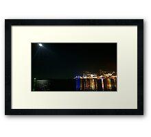 .City Lights. Framed Print