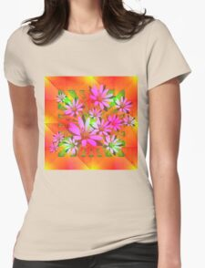 Delicate Daisies Womens Fitted T-Shirt