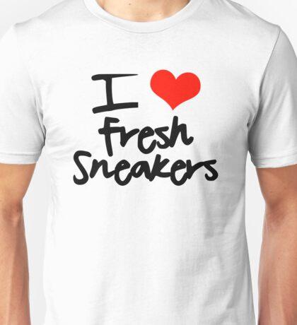 I Love Fresh Sneakers - Black Unisex T-Shirt