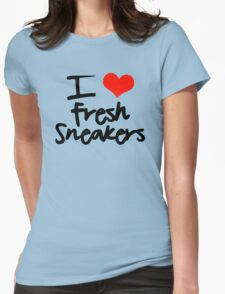 I Love Fresh Sneakers - Black Womens Fitted T-Shirt