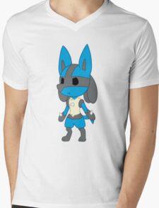 Chibi Lucario Mens V-Neck T-Shirt