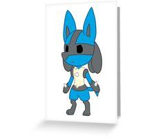 Chibi Lucario Greeting Card