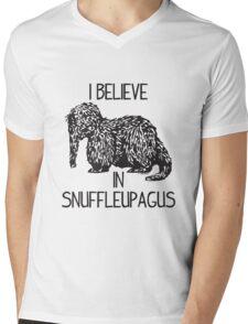 I Believe In Snuffleupagus Mens V-Neck T-Shirt