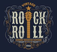 Vintage rock and roll Kids Tee
