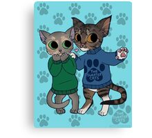 thesweatercats - Two Kitty Love Canvas Print