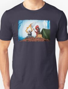 Ghostrider And Deadpool Go Camping Unisex T-Shirt