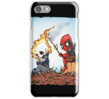 Ghostrider And Deadpool Go Camping iPhone Case/Skin
