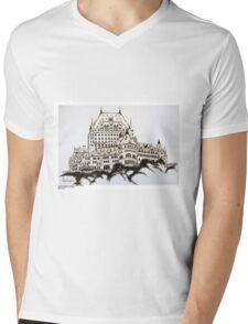 Fairmont Chateau Frontenac, Canada Mens V-Neck T-Shirt