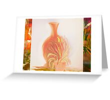 A Peach Of A Vase  by Sherri Of Palm Springs Greeting Card