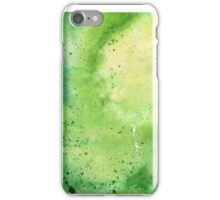 Watercolor Map of Wyoming, USA in Green - Giclee Print My Own Watercolor Painting iPhone Case/Skin
