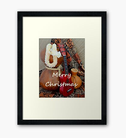 A White Lei for a Merry Christmas Framed Print