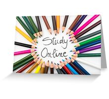 Study Online Greeting Card