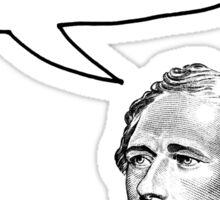 Alexander Hamilton Listen Up Fives Sticker