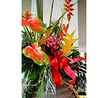 A Holiday Tropical Bouquet Photographic Print