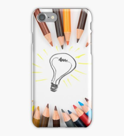 Lighting Bulb as Idea Concept iPhone Case/Skin
