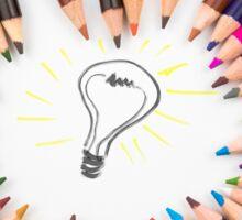 Lighting Bulb as Idea Concept Sticker