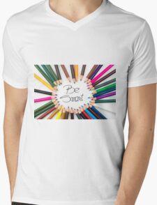 Be Smart Mens V-Neck T-Shirt
