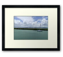 Vacation on weekday Framed Print