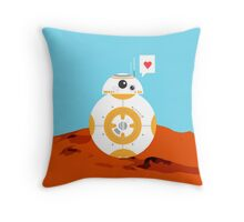 Star Wars I Heart BB8 Throw Pillow