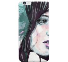 Abby Lee Kershaw in purple & green watercolour iPhone Case/Skin