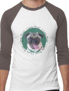 Cute I Love Pugs! T-Shirt or Hoodie Men's Baseball ¾ T-Shirt