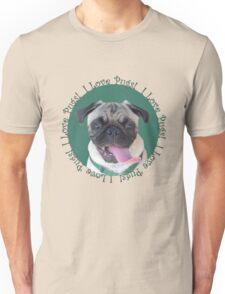 Cute I Love Pugs! T-Shirt or Hoodie Unisex T-Shirt