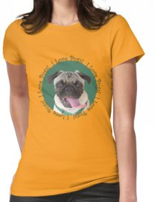 Cute I Love Pugs! T-Shirt or Hoodie Womens Fitted T-Shirt