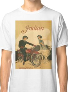 Vintage poster - Indian Motorcycles Classic T-Shirt