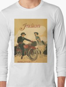 Vintage poster - Indian Motorcycles Long Sleeve T-Shirt