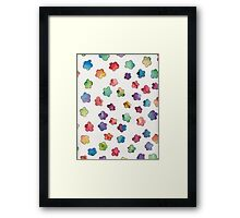 water colour flowers Framed Print