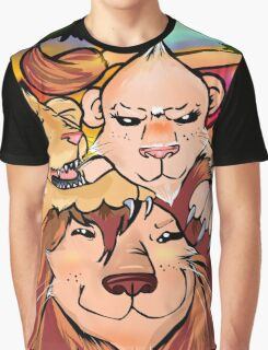 Lion Family Graphic T-Shirt