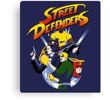 Street Defence Canvas Print