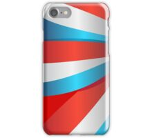 Red White and Blue Ribbon iPhone Case/Skin