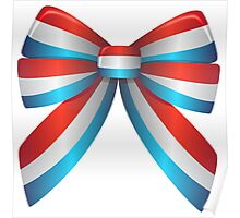 Red White and Blue Ribbon Poster