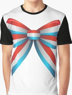 Red White and Blue Ribbon Graphic T-Shirt