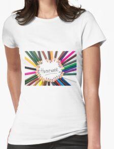 Homework Womens Fitted T-Shirt