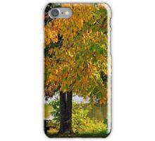 Fall at Baltz lake iPhone Case/Skin