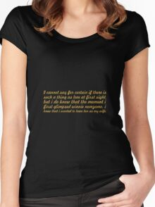 """I cannot say for... """"Nelson Mandela"""" Inspirational Quote Women's Fitted Scoop T-Shirt"""