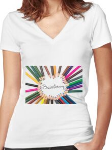 Brainstorming Women's Fitted V-Neck T-Shirt