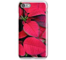 Red Poinsettias For Holiday Cheer iPhone Case/Skin