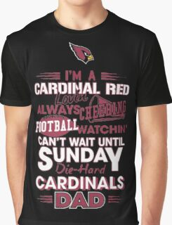 Arizona Cardinals Dad Graphic T-Shirt