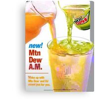 Mtn Dew AM JPEG'd Canvas Print