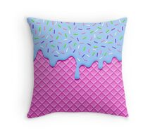 Psychedelic Ice Cream Throw Pillow