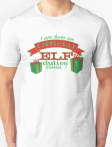 holidays-official elf business Unisex T-Shirt