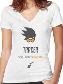 Tracer Women's Fitted V-Neck T-Shirt