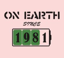 On Earth Since 1981 Kids Clothes