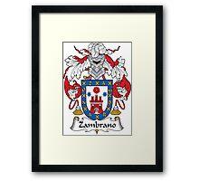 Zambrano Coat of Arms (Spanish) Framed Print