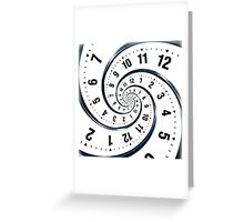 Time Travel Spiral Greeting Card