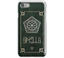 Spellbook - Green iPhone Case/Skin